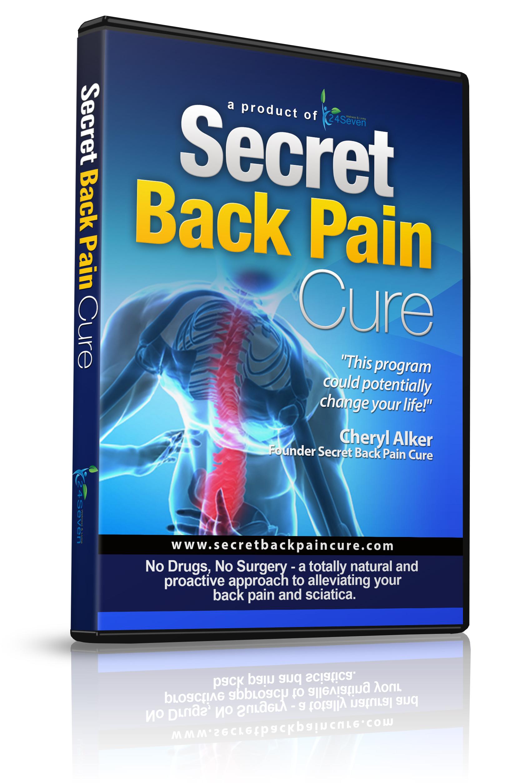Secret Back Pain Cure DVD 3d Front